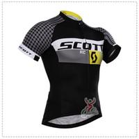 Wholesale Scott Short Sleeve Bike Cycling - 2017 Scott Cycling jersey bike clothes tour de france Bicycle Clothing quick dry Men Wear short sleeve shirt summer mtb sports jersey B1511