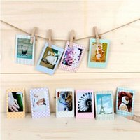 Wholesale Mini Album Wholesale - Trendy 20 Pcs Photo Albums DIY Scrapbook Decorative Paper Photos Frame For Instax Mini Film Home Decor