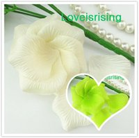 Wholesale ivory petals wedding for sale - Group buy 5 packs Ivory Non Woven Fabric Artificial Rose Flower Petal For Wedding Party Favor Decor