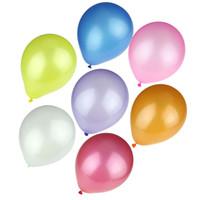 ingrosso decorazione in lattice-100Pcs decorazione di festa / lot Colorful Pearl lattice palloncino di colore della caramella di bellezza Decor Ballons festa di compleanno di nozze di trasporto