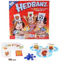 Barato Jogos Do Bebê Novos-New Hedbanz Guess Game For Baby Interessante Família Party Poopyhead Board Game Trading Cards Games CCA8308 30pcs