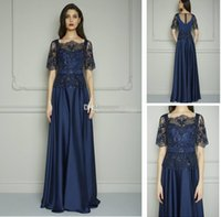 Wholesale Charmeuse Beading Prom - Graceful Beads Two Pieces Blue Evening Dresses Charmeuse A-line Tulle Jaket Backless Zipper Long Prom Gowns Hot Sale Handmade Formal Dress