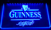 Wholesale beer logo signs - LS027-b Guinness Vintage Logos Beer Bar Neon Light Sign