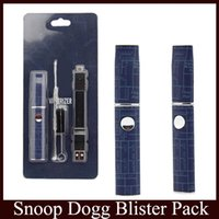 Snoop Dogg Dry Herb Vaporisateur Blister Pack Bleu Micro Pen Herbal VAPORIZER Blister Kit G Vape Pro vs stylo G navire libre