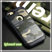 iphone 5s fall camo großhandel-Für IP 6 / 6s handy fällen TPU + PC armee camo luxus camouflage 2 in 1 hybird zurück abdeckung für IP 5/5 s / 6/6 s / 6 plus SAMSUNG S7 S8 Plus