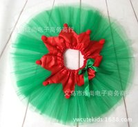 Wholesale Green Pettiskirt Baby - 2017 girls XMAS Christmas tutu skirt baby kids tutu skirts toddler skirts red green tassels bow infant pettiskirt newborn photography props