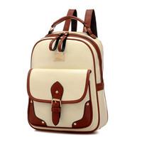 bagpack women toptan satış-Kadın Sırt Çantaları Deri Omuz Okul Çantaları Gençler Kızlar Için Laptop Sırt Çantası Su Geçirmez Seyahat Bagpack Mochila Feminina