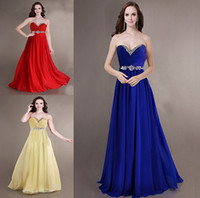Wholesale yellow strapless maxi online - ZJ0011 strapless sweetheart chiffon royal blue yellow red bridesmaid dresses brides maid bridemaids ladies maxi plus size new arrival