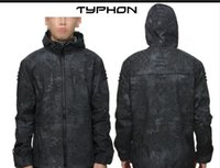 Wholesale Python Jacket - Tactical Waterproof Army Coats MANDRAKE Ripstop Jacket Assault Hoodie Urban Python Grain for Shooter Hiking Cycling Outdoor Sports