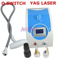 Wholesale Yag Laser Remover - EU tax free 1064nm 532nm 1320nm Q switch ND YAG Laser Tattoo removal machine Eyebrow Pigment Freckle Acne Remover skin care salon equipment