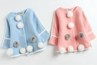 Wholesale Coat Baby Korea - baby autumn winter coats girls fashion outwear childrens korea style clothing kids clothes wholesale infant toddler trench winter cardigan