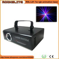 Wholesale Animation Show Light - Wholesale-2pcs free shipping high power 1W RGB full color animation laser light  full color beam ILDA animation 1watt laser show