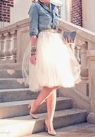 erwachsene prinzessinkleider großhandel-Fabrik Mini Erwachsene Tutu Tüll Party Röcke Prinzessin Skater Fehlschlagrock Ballkleider Plus Größe vestidos