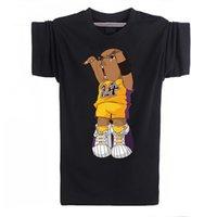 Wholesale Kobe Cartoon T Shirt - Wholesale-Summer mens t shirts cartoon Kobe Bryant men t shirt cotton short-sleeved t-shirt basketball sport tee shirts Plus Size XS-XXL
