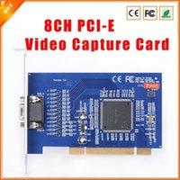 Wholesale D1 H 264 8ch - Good Quality 8 CH Cameras DVR CARD H.264 D1 8CH PCI-E Video Capture Card Free Shipping