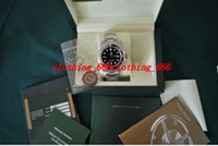 Wholesale Christmas Files - Factory Supplier Original Box File New 114060 Sapphire Ceramic Bezel Black Stainless steel Bracelet Automatic Sport Men's Wrist Watches