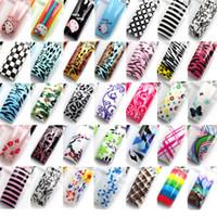 ingrosso suggerimenti per airbrush-All'ingrosso-Airbrush Predesign Nail Art false punte acrilico francese casuale 70 pezzi