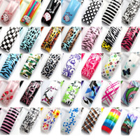 Wholesale Airbrush Predesign Nail Art False French Acrylic Tips Random