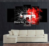 Wholesale Fast Oil Painting - 5 Panels fast and furious Modern Abstract Canvas Oil Painting Print Wall Art Decor for Living Room Home Decoration(Unframed Framear