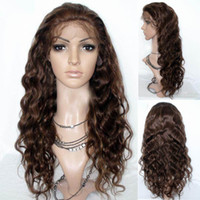 "Wholesale India Body Wave Hair - 100% India Human Hair bodywave Remy Full Lace Wigs & Front Lace Wig#4 27 14"" - 20"" IN STOCK READY TO SHIP"
