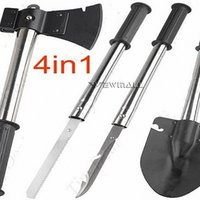 Wholesale Kits Axe - 4 in 1 Military Shovel Steel (Shovel   Axe   Saw   Knife) Combined Camp Tool Kit with Camouflage Pouch for Outdoor Camping Travel 1pcs