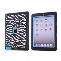 Wholesale Ipad Mini Zebra - Cute Laser Carving Dot Zebra Wave Combo Tablet Case Cover for iPad mini 1 mini 2 Screen Protective Film Stylus Pen Free Shipping
