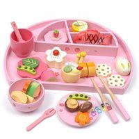 Wholesale Children Wooden Tea Set - Christmas gifts Baby Toys Mother Garden Strawberry Play House Wooden Toys Afternoon Lunch Tea Set Play Food Children Toys Eduaction Gift