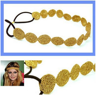 Wholesale Elastic Lace Headbands Rose - Elastic Hollow Rose Women Flower Hair Band Headband Kids Hair Accessories 2 Colors Gold   Silver free shiping
