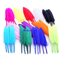 Wholesale Goose Feathers Earrings - Free Shipping Mix Colors Goose Feathers DIY Fashion Jewelry Necklace Earring Decor Duck Feathers Wedding Party 10-15cm 4-6inch