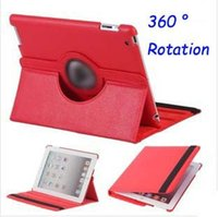 Wholesale Ipad Rotatable - Fashion PU leather 360c rotatable protective case smart covers for tablets 2 3 4 with Stand function and Sleep wake up function
