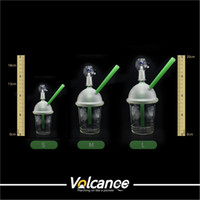 Wholesale nail dome bubbler resale online - glass bongs starbuck Cup water pipe types dabber oil rig Dabuccino Evol glass bubbler bongs dome nail water pipe on sale
