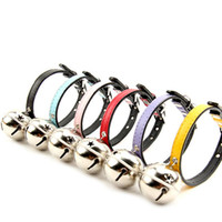Wholesale Oversized Collar Necklace - 6colors Oversized Pet Collars Dog Cat Bells Collars Pet Supplies Leads necklace Pet owner favors gifts