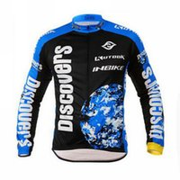 Wholesale Discovery Cycling Jersey Long Sleeves - Wholesale-HOT ! Discovery Cycling INBIKE Clothing Bike Bicycle Long sleeve cycling jersey Top Quick Dry + Pants Suits