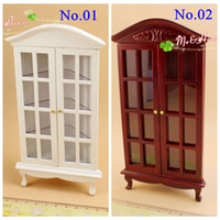 Wholesale Living Room Wooden Cabinets - 1:12 Dollhouse Miniatures Gradevin Corner china Cabinet Wine Cabinet Mini Furniture Living Room Decor  QQ_dollhouse Lovely Toy Great Gift A