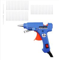 Wholesale Hot Glue Heaters - Handy Professional High Temp Heater Hot Glue Gun with 50 Glue Sticks Graft Repair Heat Ggun Pneumatic Tools 20W EU Plug