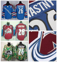 Wholesale Paul Stastny - Factory Outlet, Wholesales Lowest Price 26 Paul Stastny Colorado Avalanche Jersey Ice Hockey Jerseys Paul Stastny Burgundy Maroon Red Blue C