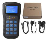 probador de vag al por mayor-Super Vag K + Can V4.8 Programador Corrector del odómetro Probador de diagnóstico del coche VAG K CAN 4.8