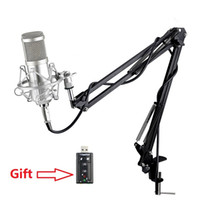Wholesale Studios Microphone - Professional bm 800 Condenser Microphone for computer Audio Studio Vocal Recording Mic KTV Karaoke + Microphone stand