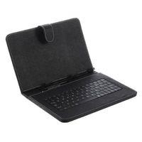 10 inch tablet venda por atacado-Estojo de couro universal micro usb teclado caso kick stand com cabo micro otg para 7 8 9 10.1 polegada android tablet pc mid