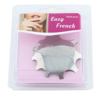 Wholesale Smile Line Nail Tips - Wholesale-108 Pcs  lot Easy French Nail Clipper EASEYE-02 Smile Line Cutter Nail Styling Tools Size 1-11 False Nail Tips Trimmer F0214XXX