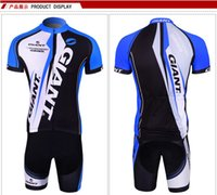 Wholesale Cycling Jersey Suit Giant - Wholesale-Hot sale Style team GIANT Cycling Jersey Bike Jerseys cycling shorts gaint 2015 Men sports riding Suit bicycle clothes for men