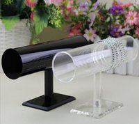 Wholesale Retail Displays For Watches - Chic Acrylic bracelet holder hot selling acrylic Practical Retail Shop Display Stand Holder For Bangle Bracelet Watch