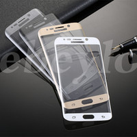 Wholesale Retail Box Cover - Note 7 S6 Edge edge+ S7 Edge Note Edge Plus Full Cover 3D Curved Tempered Glass Screen Protector 0.2MM With Retail Box