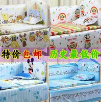 Wholesale 5 Sets Baby bedding sets Giraffe Bear character bed around and pillow sheet Children bedding sets cotton cm