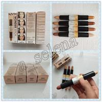 Wholesale shading pen resale online - NYX Wonder stick highlights and contours shade stick Light Medium Deep Universal NYX concealer colors Face foundation Makeup Concealer Pen