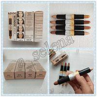 ingrosso ombreggiatore-NYX Wonder stick highlights e contorni paraluce Light Medium Deep Universal NYX correttore 4 colori Face foundation Makeup Concealer Pen