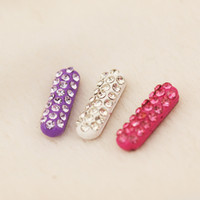 Wholesale Rhinestone Home Phones - Wholesale-1pc Shiny Alloy Rhinestones Home Button Sticker for Samsung Fashion Small Mobile Phone Accessory for Women