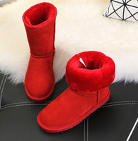 Wholesale Ladies Green Ankle Boots - 2017 fashion classic high quality free delivery WGG ladies classic high boots children boots snow boots winter boot us