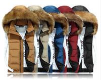 Wholesale Winter Essentials - NEW men down cotton vest vest couple Nagymaros collar Slim warm winter coat vest black S-XXXL essential free shipping !