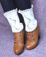 Wholesale lace leg socks resale online - New Lace Crochet Knit Leg Warmers Boot Cuffs Toppers Boot Socks pairs